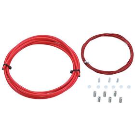 KCNC Road Brake Housing & Wire Kit, rojo